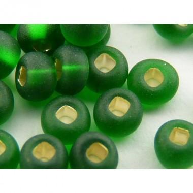 Бісер №57060matt, зелений матово-блискучий / 1 г