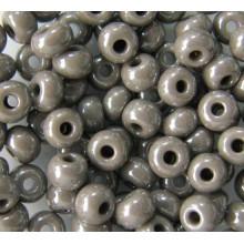 Бісер №48020 6/0, сіро-коричневий перловий / 5 грам