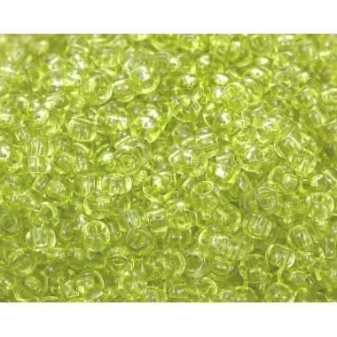 Бісер №01153, прозорий яскравий салатовий, 1 грам