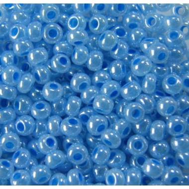 Бісер №37136, блакитний перламутр/1 грам