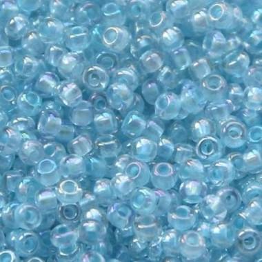 Бісер №38132, світло-блакитний з прокрасом/1 грам