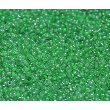 Бісер №38156, зелено-салатовий з прокрасом/1 грам