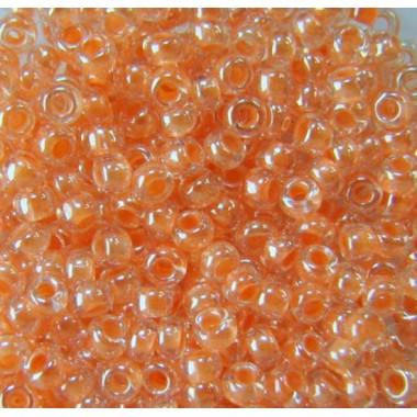 Бісер №38188, персиковий з внутрішнім забарвленням/1 грам