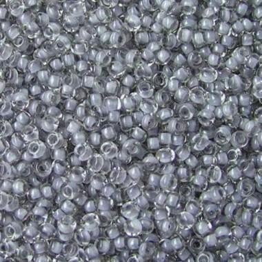 Бісер №38342, світло-сірий з прокрасом/1 грам
