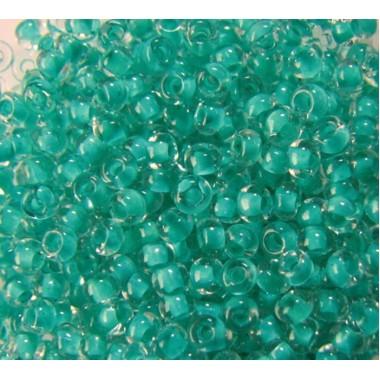 Бісер №38358, бірюзово-блакитний з прокрасом/1 грам