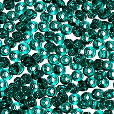 Бісер №50710, прозорий насичений бірюзовий, 1 грам