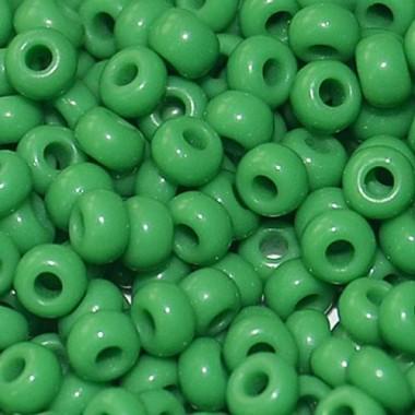 Бісер №53250, зелений глазур/1 грам