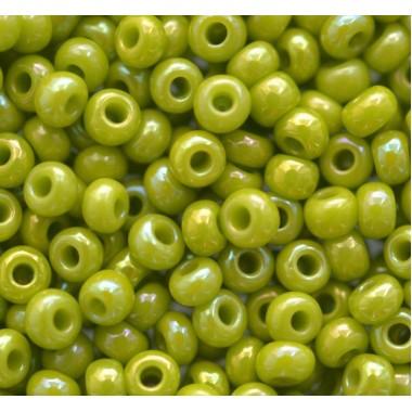 Бісер №54430,оливковий райдужний перламутровий/1 грам
