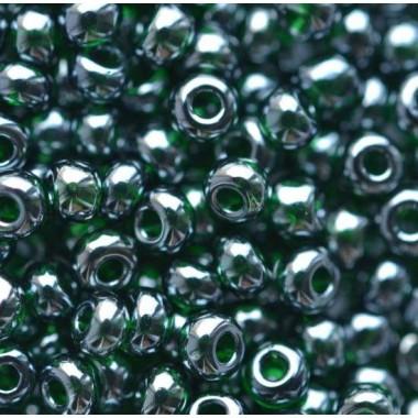 Бісер №56150, чорнильно-зелений глазур/1 грам