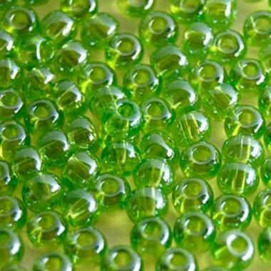 Бісер №56220, яскравий оливковий прозорий / 1 грам