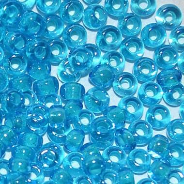 Бісер №61015, блакитний з прокрасом/1 грам