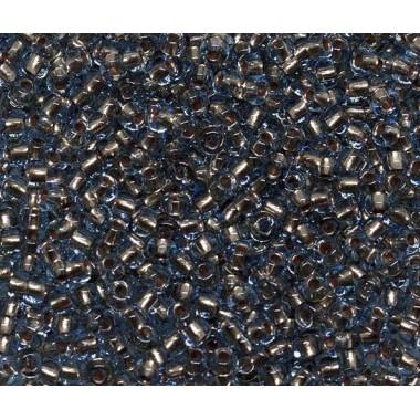 Бісер №69000, аквамарин з бронзовою лінією/1 грам