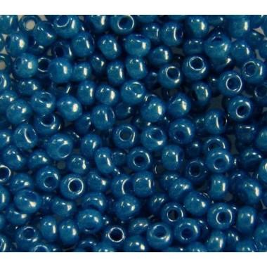 Бісер №17136, синьо-блакитний непрозорий/1 грам