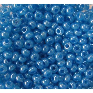 Бісер №17336, синій блискучий / 1 грам