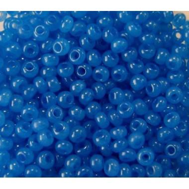 Бісер №17836, синій з глянцевим блиском / 1 грам