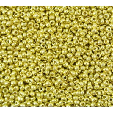 Бісер №18151, металік  золото/1г