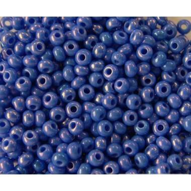 Бісер №34040, синій з глянцевим блиском / 1 грам