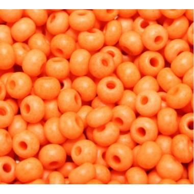 Бісер №36789, помаранчевий неоновий / 1 грам