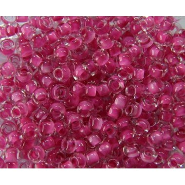 Бісер №38325, рожево-фіолетовий з прокрасом / 1 грам