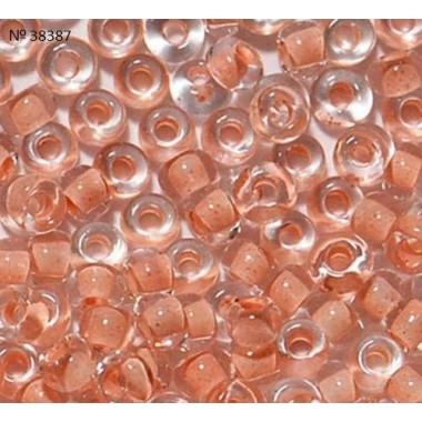 Бісер №38387, персиковий з прокрасом / 1 грам