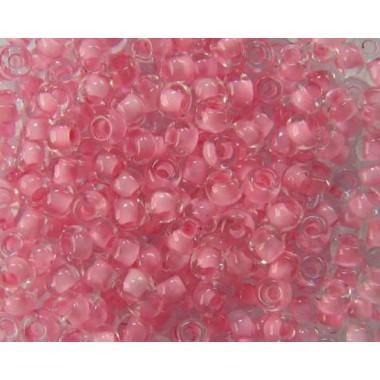 Бісер №38394, світло-рожевий з прокрасом / 1 грам