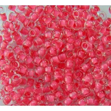 Бісер №38398, рожевий з прокрасом/1 грам
