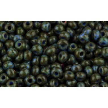 Бісер №39940, синій травертин / 1 грам