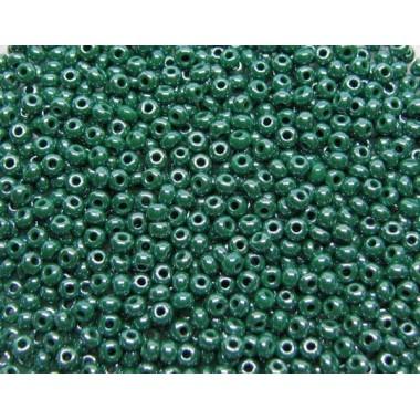 Бісер №58240, зелений з глянцевим блиском / 1 грам