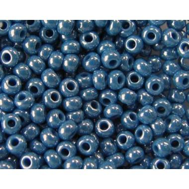Бісер №68080, світло-синій з глянцевим блиском / 1 грам