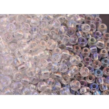 Бісер №78109, прозорий срібний райдужний/1 грам