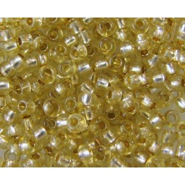 Бісер №78151, жовтий зі срібною серединкою / 1 грам