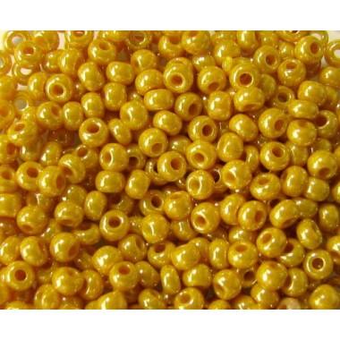 Бісер №83111, жовто-гірчичний люстеред, 1г
