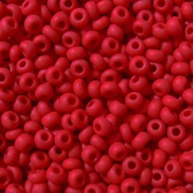 Бісер №93190 matt, темно-червоний матовий/1 грам