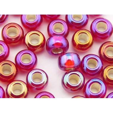 Бісер №97099, темний червоно-фіолетовий райдужний, 1г