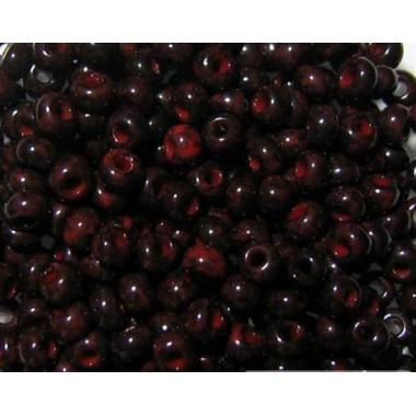 Бісер №99190, червоно-коричневий мармур / 1 грам