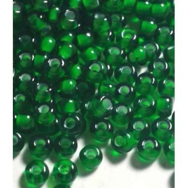 Бісер №55066, темно-зелений з прокрасом / 1 грам