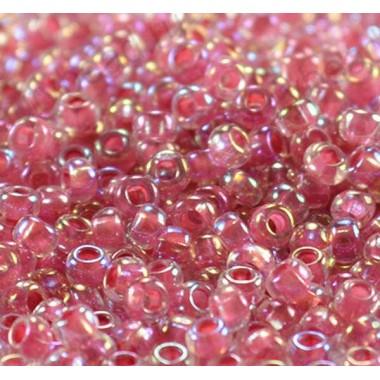 Бісер №58598, рожево-червоний райдужний / 1 грам