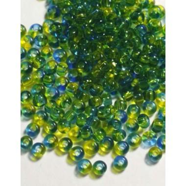 Бісер №81733, зелено-блакитна глазур / 1 грам