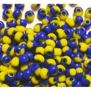 Бісер №83730, синьо-жовтий натуральний / 1 грам