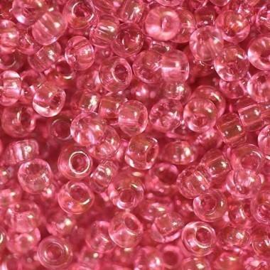Бісер №01193 червоно-рожевий прозорий / 1г