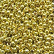 Бісер №01720, зелене золото метал, 1г