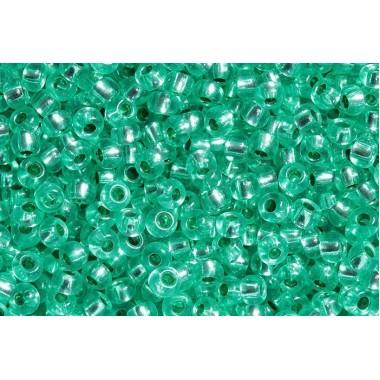 Бісер №08258, блискучий зелень з бірюзою, 1г