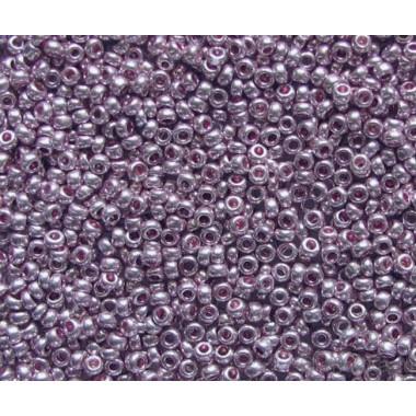Бісер №18528, бузковий метал, 1грамм