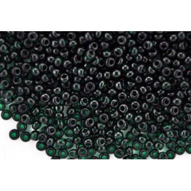 Бісер №50150, прозорий темний зелений, 1г