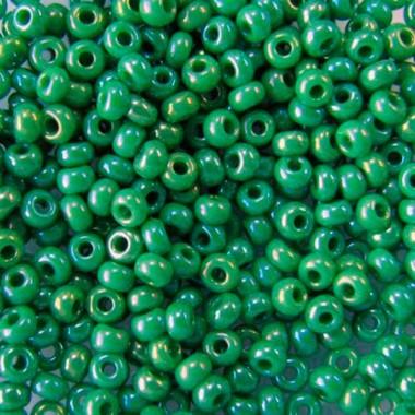 Бісер №54250, райдужний зелений, 1 грам