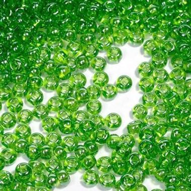 Бісер №56430, прозорий яскравий зелений, 1 грам