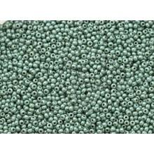 Бісер №63021, сіро-зелений люстеред, 1г