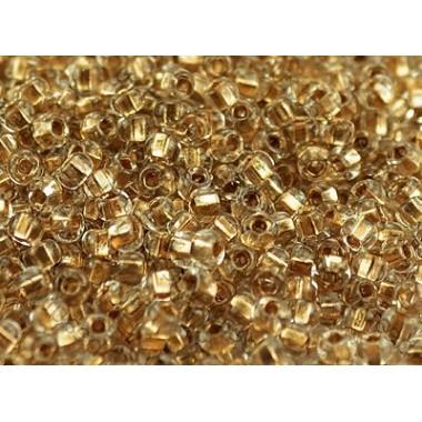 Бісер №68106, з золотою серединою, прозорий, 1г