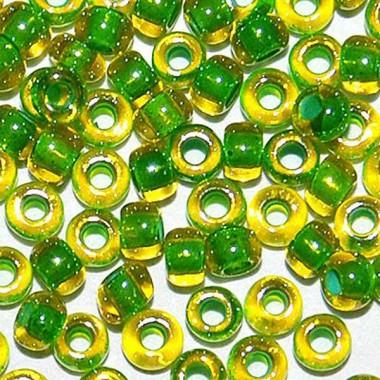 Бісер №81012, райдужний зелений, 1 грам