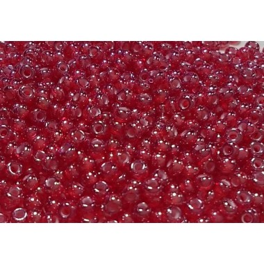 Бісер №95077, прозорий малиново-червоний, 1г